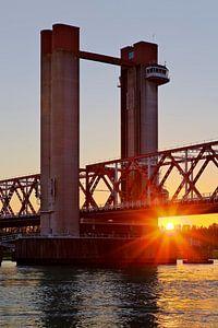 Zonsondergang Spijkenisserbrug te Spijkenisse