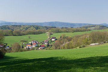 Vallei Brotterrode Oost-Duitsland von Hans Oudshoorn