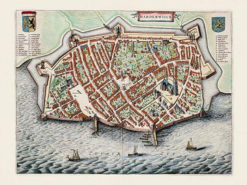 Plattegrond Harderwijk - 1649
