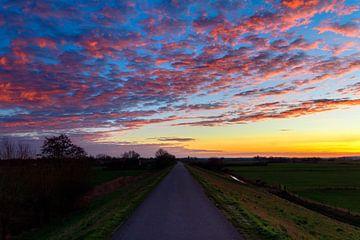Sonnenaufgang Zevenaar (Deich) von Devlin Jacobs