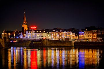 Maastricht by night, Cörversplein en Sint Servaasbrug van Carola Schellekens