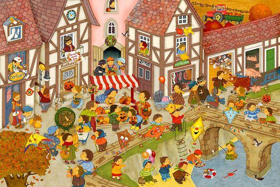 Mein Dorf im Herbst von Marion Krätschmer