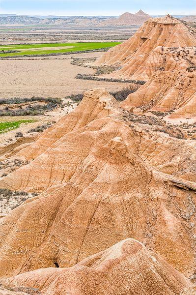 View of Bardenas desert, Spain van Carlos Charlez