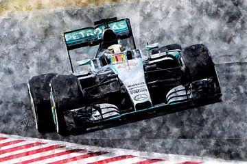 Lewis Hamilton, Mercedes, 2015 von Theodor Decker