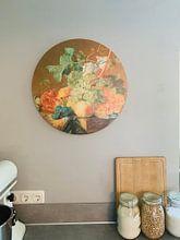 Kundenfoto: Stilleben mit Früchten, Jan van Huysum, als rundes bild