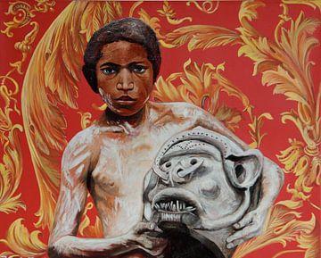 Mud Boy, Nieuw-Guinea van Jeroen Quirijns