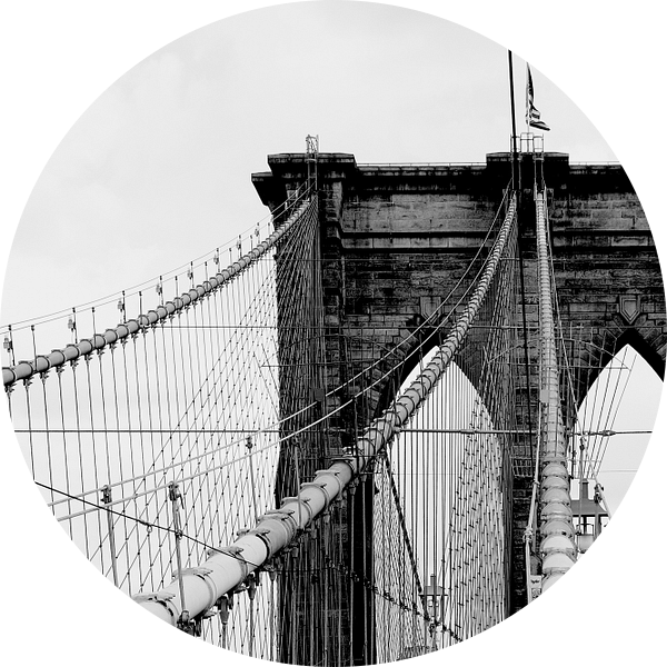 new york city... Brooklyn Bridge & lantaarn van Meleah Fotografie