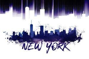 Graphic Art NYC Skyline | lila