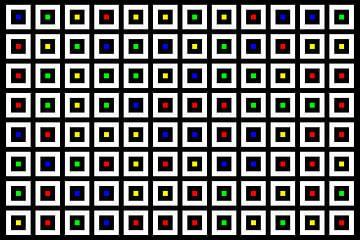 Nested | Center | 12x08 | N=02 | Random #02 | RGBY van Gerhard Haberern