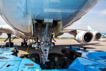 Boeing 747 par le bas pendant le refoulement
