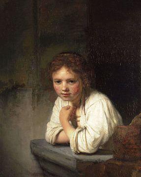 Mädchen im Fenster - Rembrandt van Rijn