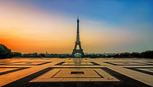 Eiffeltoren vanaf het Tracodero von Michiel Buijse