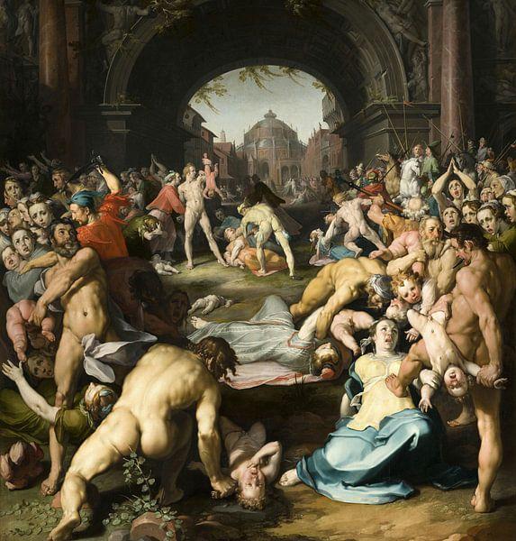Das Massaker an den Unschuldigen, Cornelis van Haarlem. von Meesterlijcke Meesters