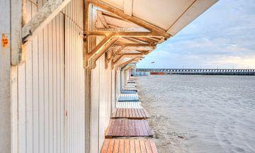 Strandhuisje aan Belgische Kust von Sophie Wils