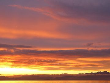 Prachtig zonlicht en -lucht van Barry Jager