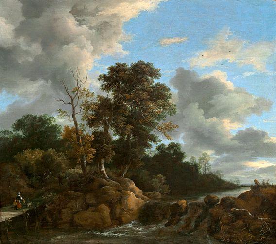 Landschap, Jacob van Ruisdael van Liszt Collection
