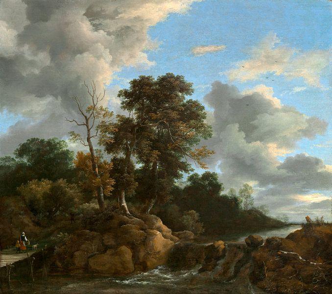 Landschap, Jacob van Ruisdael (gezien bij vtwonen) van Liszt Collection
