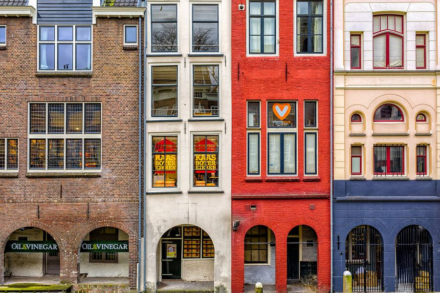 Grachtenpanden - Utrecht van Thomas van Galen