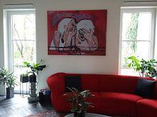 Klantfoto: Le plaisir est le bonheur des fous van Sandrine Lambert, op canvas