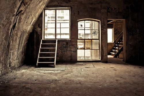 In de oude meelfabriek van
