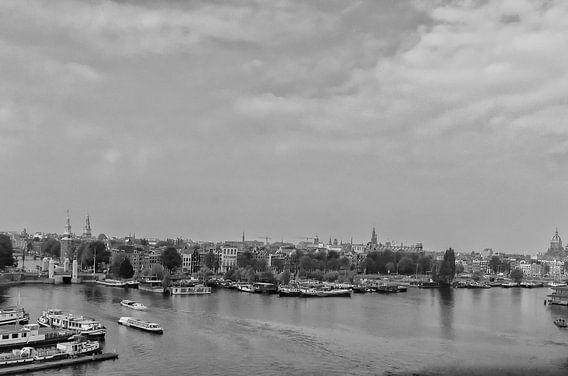 Uitzicht over de oude stad van Amsterdam