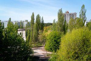 Die verlassene Stadt Pripyat in Tschernobyl.