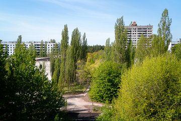 La ville abandonnée Pripyat de Tchernobyl. sur Roman Robroek