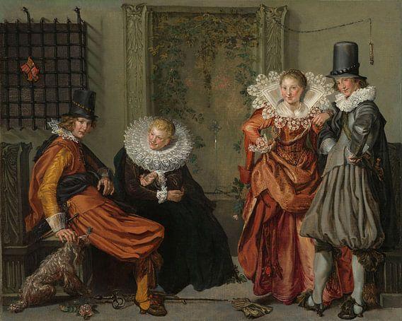 Voorname vrijage, Willem Pietersz. Buytewech van Meesterlijcke Meesters