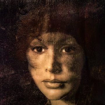 Vierkant portretje van Marijke de Leeuw - Gabriëlse