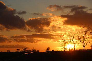 Goldener Sonnenuntergang von Wilma Overwijn