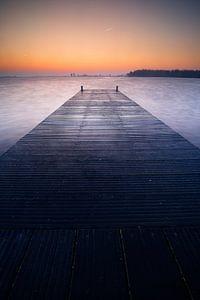 Hollandse meren voor zonsopkomst
