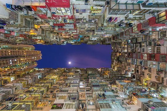 Hong Kong by Night - Quarry Bay Buildings - 4 van Tux Photography