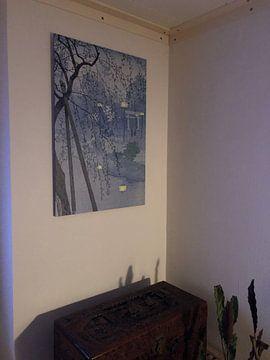 Kundenfoto: Der Rand des Shinobazu-Teiches während eines nebligen Abends., Kasamatsu Shirô