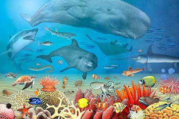 Tiere im Meer van Marion Krätschmer