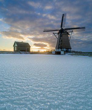 Winter op Texel - Molen het Noorden - It giet oan !! van Texel360Fotografie Richard Heerschap