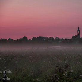 Avond nevel van Robin Pics (verliefd op Utrecht)