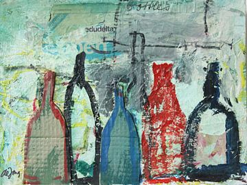 Flessen, bottles  von Leo de Jong