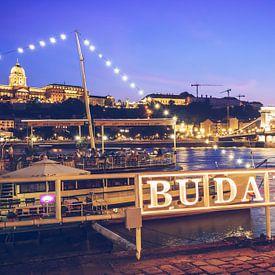 Budapest – Donau-Ufer / Kettenbrücke von Alexander Voss