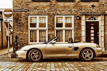 Porsche Boxster in de Putterstraat van 2BHAPPY4EVER.com photography & digital art