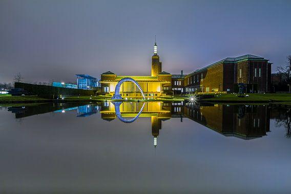 Het gespiegelde Museum Boijmans van Beuningen in Rotterdam van MS Fotografie