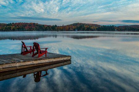 Serene rust in de herfst