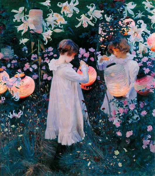 Carnation, Lily, Lily, Rose, John Singer Sargent van Meesterlijcke Meesters