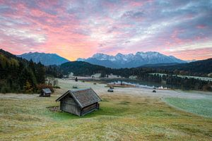 Frosty morning at Lake Gerold in Bavaria