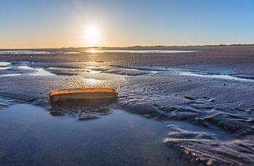 Zonsopkomst aan een Zeeuws strand von Marcel Klootwijk