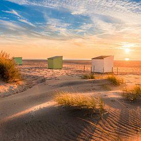 Drie huisjes op het strand... van Alexander Mol