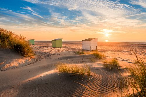 Drie huisjes op het strand... van
