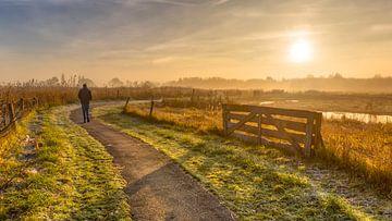Wanderweg bei Sonnenaufgang von Rudmer Zwerver