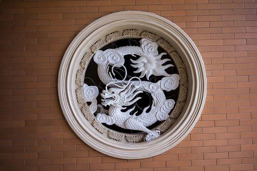Dragon in wall