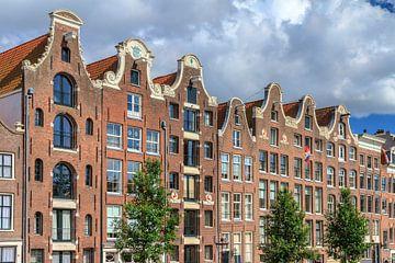 Grachtenpanden aan de Prinsengracht in Amsterdam van