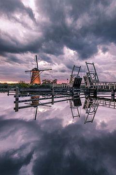 Sturm über Kinderdijk von Sander Groenendijk